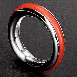 Anneau pénien Cazzo rouge - Diamètre 40 mm