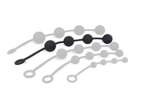Boules anales en silicone Noires 5cm