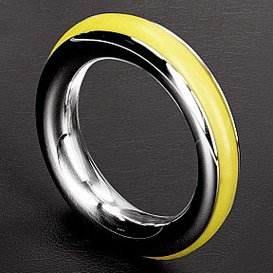Anneau pénien Cazzo jaune - Diamètre 40 mm