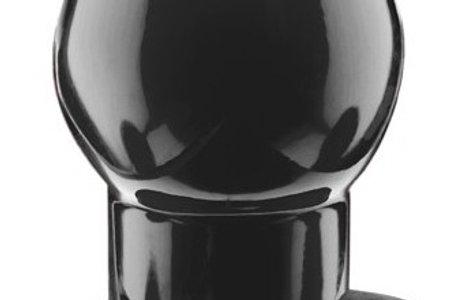 Ass Tunnel Plug Silicone Noir Large 7.6 x 6.2 cm