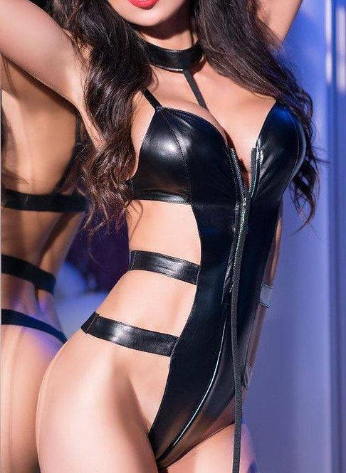 Body wetlook Tracy - Noir - Taille L/XL