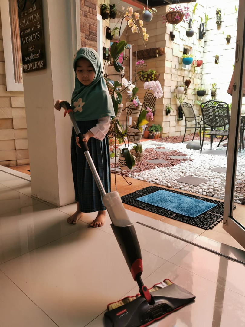 Life Skill Development (K-2 Students) - sweep and mop the floor