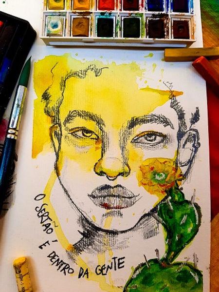 Pintura El sertão está dentro de nosotro