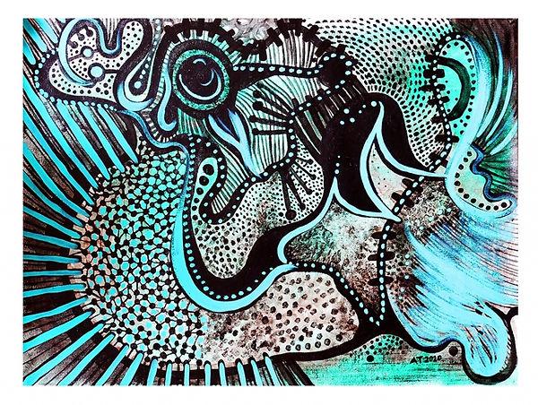 seres acrilico y esmalte sobre lienzo 50