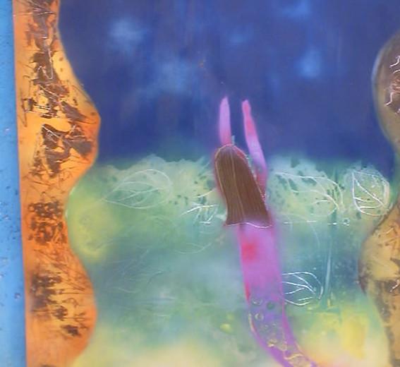 Pintura sirena violeta.