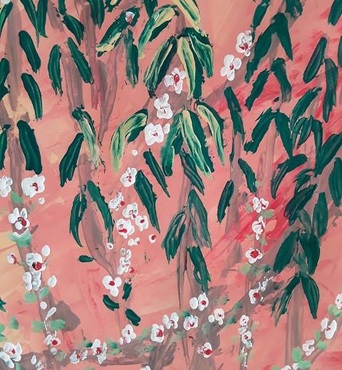Azahares en flor.