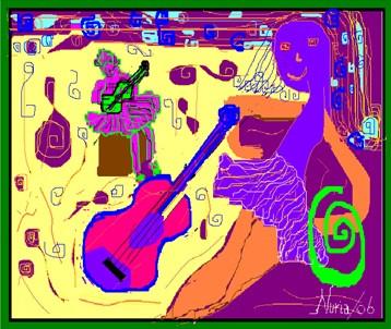 Niña y Guitarra.