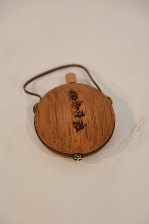 ENGRAVED TIMBER SCENT FLASK