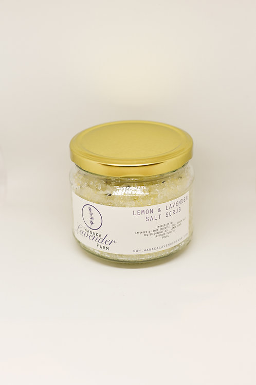 Lemon & Lavender Salt Scrub 300ml