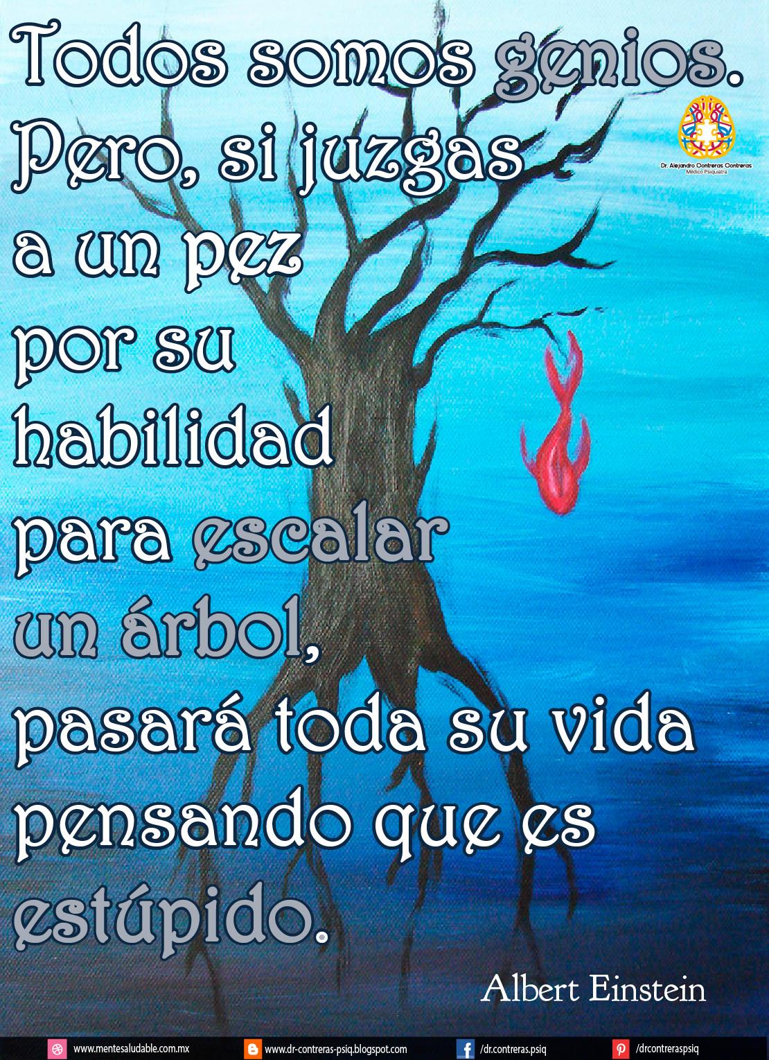 Foto Frase Pez Arbol Einstein Para Fb Y