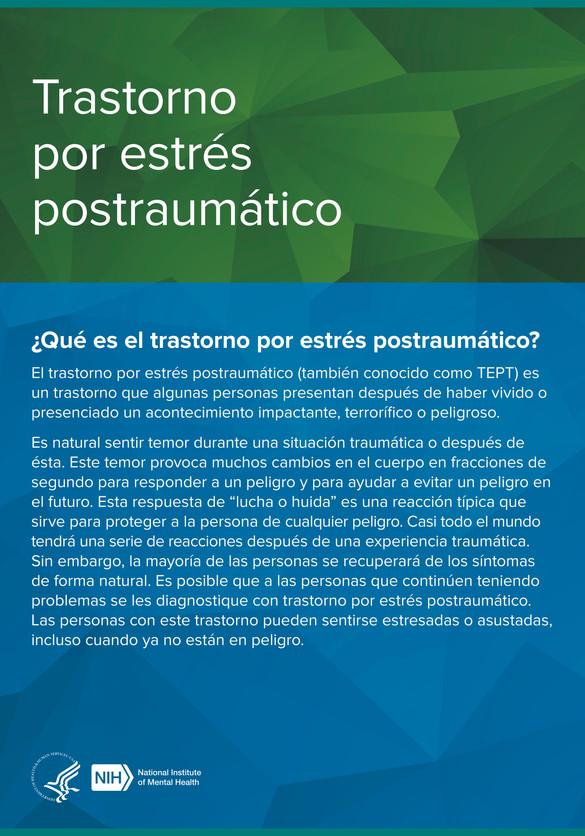 Trastorno por estrés postraumatico (TEPT)