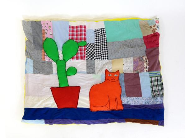 Orange Cat Blankat