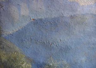 particolare dei danni del pigmento croma