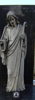 statua funebre - marmo - prima della pul