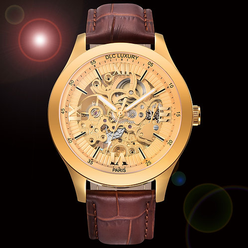 "Montre Homme - DLC - Princesse Elena ""plaqué or"" Box Version Prestige"