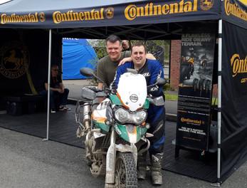 Graham Hoskins with Tom and Tom's bike