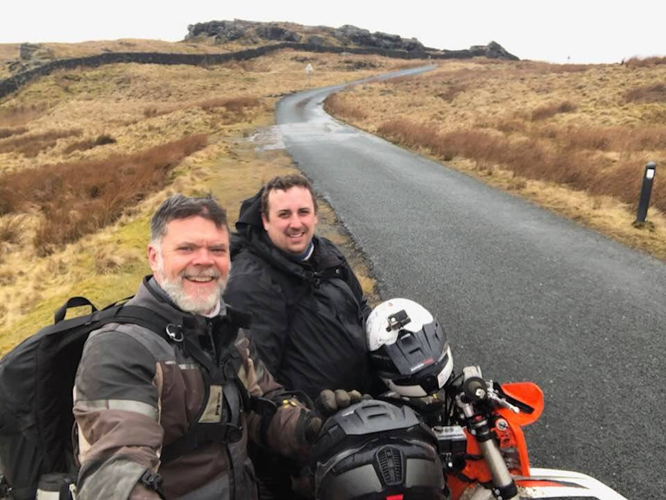 Graham Hoskins with producer Tom Woodrow on the Great British Bike Off