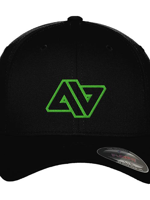 GREEN LOGO FITTED BASEBALL CAP