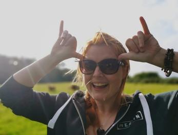 Clare sunny filming fun