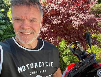 Graham Hoskins bike shed volunteer