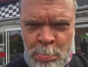 Graham Hoskins looking sad
