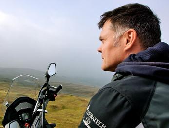 Graham Hoskins filming the first ever episode of ABTV