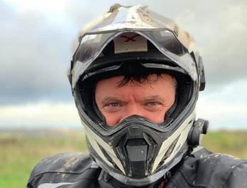 Graham Hoskins in a helmet