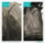 レザージャケットのカビクリーニング ビフォアー&アフター