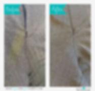 ズボン 股下のしみ before&after