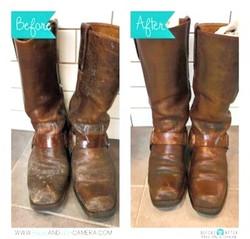 靴の丸洗いクリーニング 泥汚れ除去クリーニング画像
