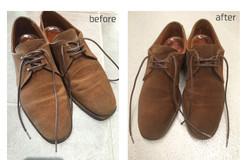 靴の丸洗いクリーニング、ビフォーアフター画像