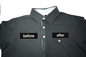 色褪せたポロシャツの復元イメージ画像