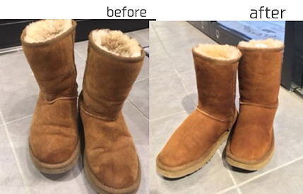 UGG ムートンブーツ 茶色 before&after