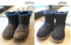 UGGムートンブーツ 紺色 丸洗い比較
