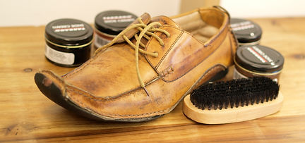 靴の表面洗浄クリーニング