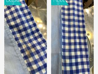シャツに付着したヘアカラー剤の染み抜き除去 クリーニングミハシ