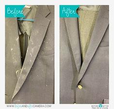 スーツのカビ、ビフォーアフター画像