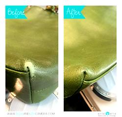 染色復元加工・バッグの脱色ビフォーアフター画像