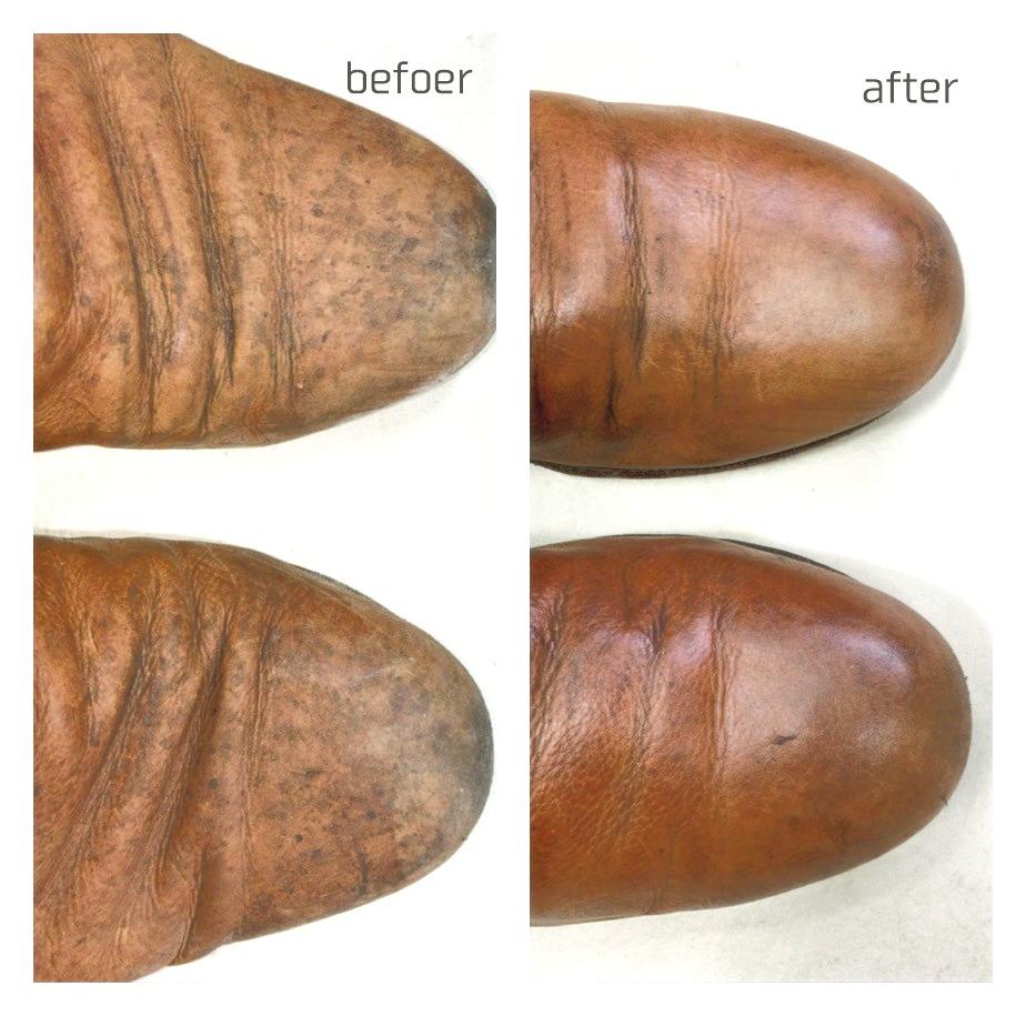 靴の丸洗いクリーニング カビの除去クリーニング画像