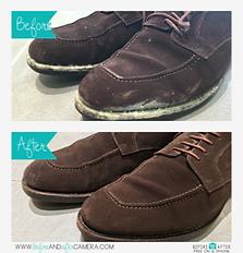 レザー靴のカビ ビフォアー&アフター