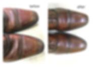 靴みがき比較イメージ