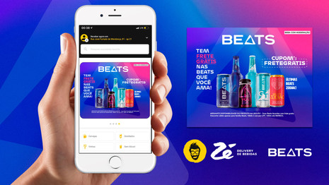 @BeatsOficial Promo Banner Beats for Zé Delivery