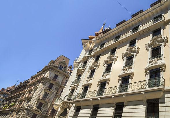 Building architecture close up in Geneva