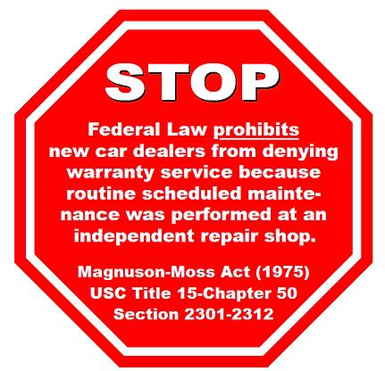 Federal law prohibits, repair