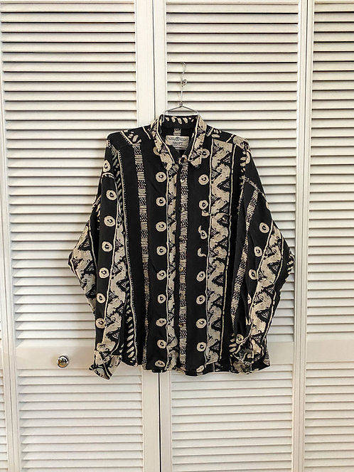 Black and White Pattern Button-up