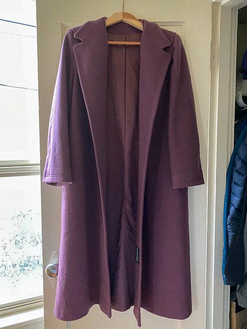 Plum Domino Trench Coat