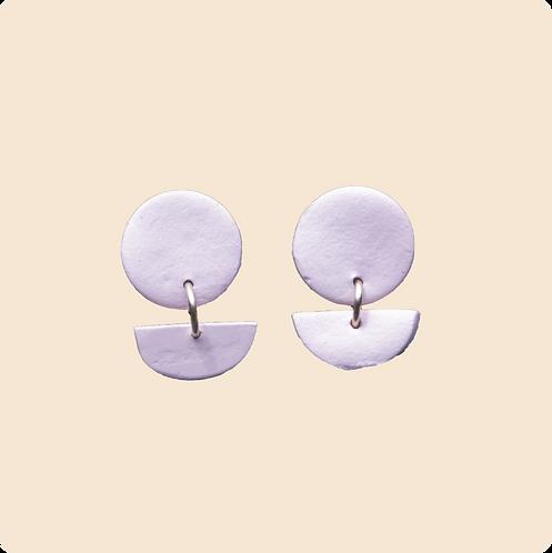 Ophelia (stud) - circle polymer clay earrings