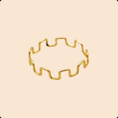 Rhea Ring - Geometric Greek Ring