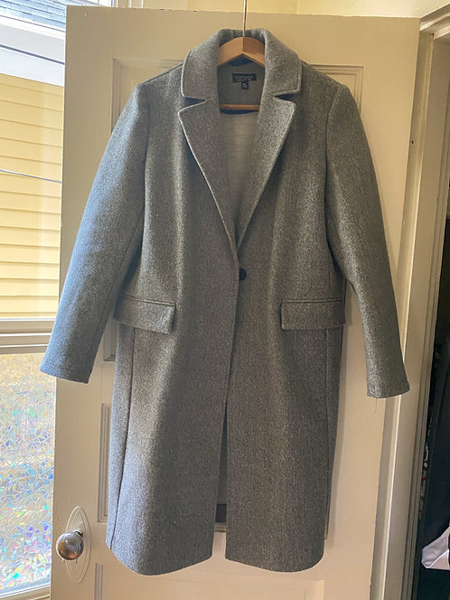 Topshop Grey Trench Coat