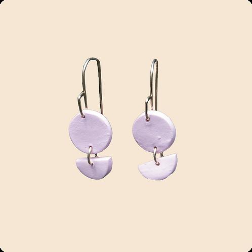 Ophelia (dangle) - circle polymer clay earrings